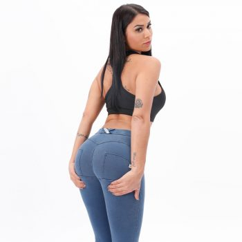 Melody Mid Waist Denim Wash Jeggings Butt Lifting Stretch Skinny Jeans For Women Super Comfortable Push Up Jeans Fashion