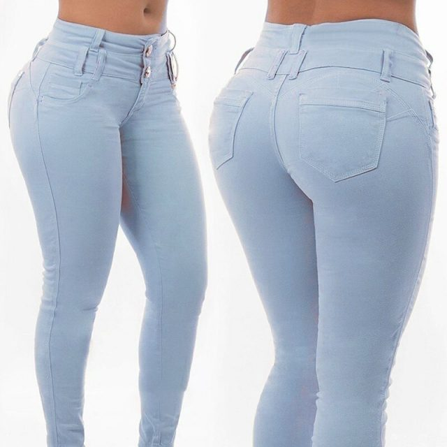 Colombian Pants of Women Ultra Stretchy Ripped Jeans Women Casual Denim Pants Trousers for Women Skinny High Waisted Jeans