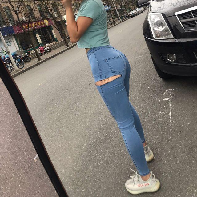 WOMENGAGA Autumn Jeans Cotton Denim Pencil Pants Trousers Winter 2020 Europe Sexy Hole Super Elastic High Waist Skinny W5UK