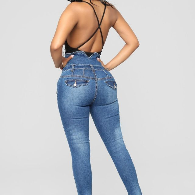 Ladies Ripped Jeans Plus Size Skinny High Waist Jeans Button Fly Curvy Long Big Hips Stretch Jean Tall Women Slim Shapping Denim
