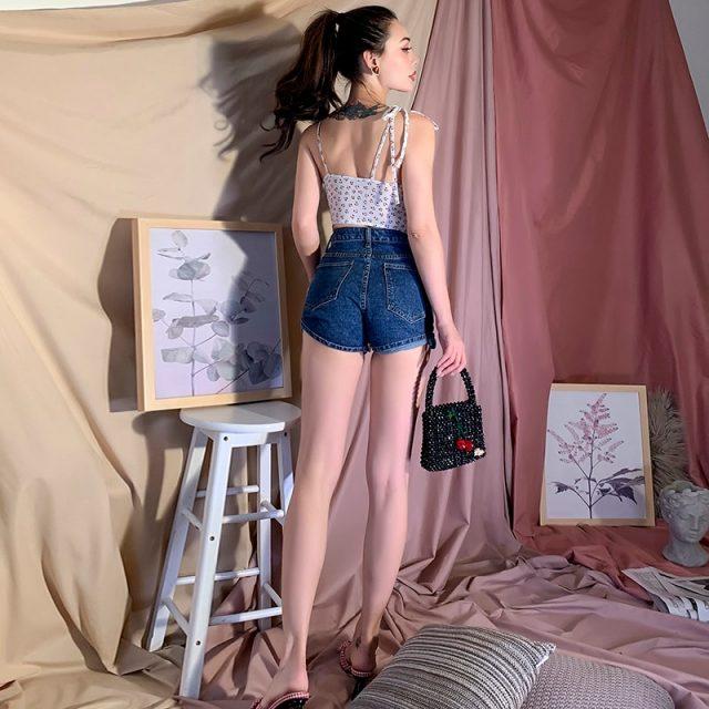 2019 New Classic Joker High Waist Jeans Shorts Street Style
