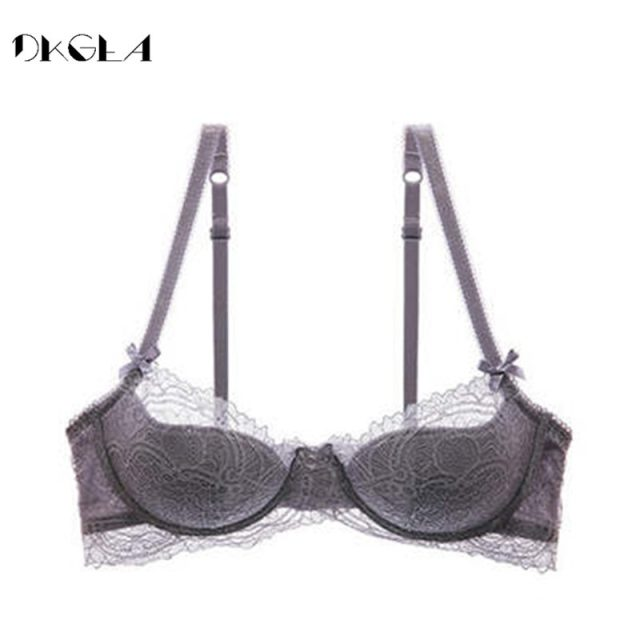 Fashion Young Girl Bra Plus Size D E Cup Thin Cotton Underwear Women Sexy Brassiere Pink Lace Lingerie Push Up Bras Embroidery
